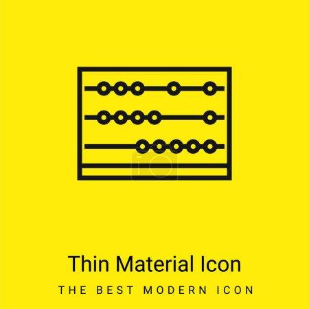 Illustration pour Icône matérielle jaune vif minimale Abacus - image libre de droit