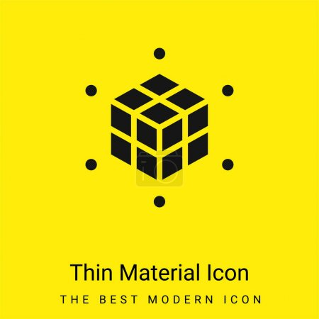 3d Printing minimal bright yellow material icon