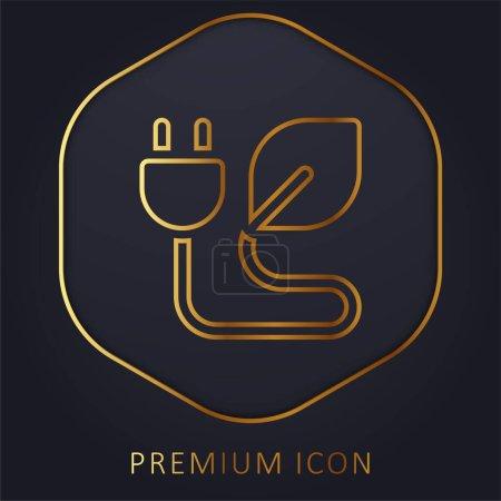 Illustration pour Logo ou icône premium Bio Energy Golden Line - image libre de droit