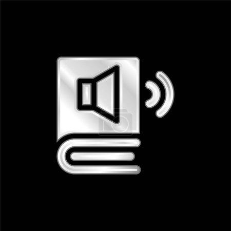 Audio Book silver plated metallic icon