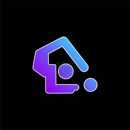 Illustration pour Gymnastique artistique icône vectorielle dégradé bleu - image libre de droit