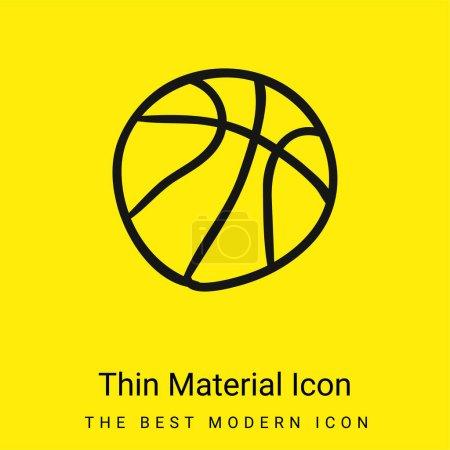 Basketballhand gezeichnet minimales leuchtend gelbes Materialsymbol
