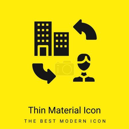 Illustration pour B2c minime icône de matériau jaune vif - image libre de droit