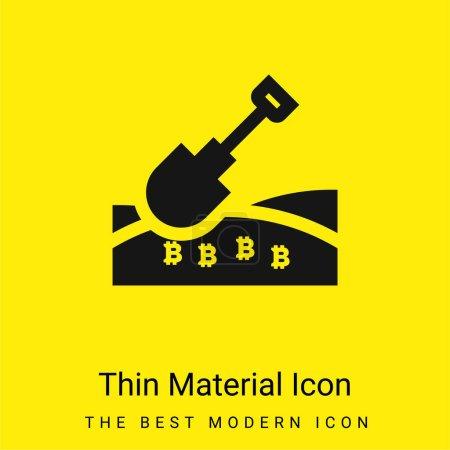 Illustration pour Bitcoin minime icône matérielle jaune vif - image libre de droit