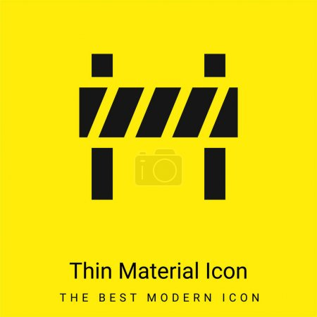 Illustration for Barrier minimal bright yellow material icon - Royalty Free Image