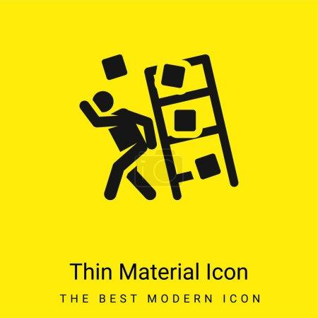 Illustration pour Accident minimal jaune vif icône matérielle - image libre de droit