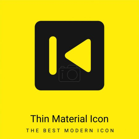 Back Button minimal bright yellow material icon