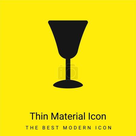 Illustration pour Grand Gobelet minimal jaune vif icône matérielle - image libre de droit