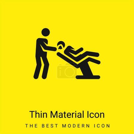 Photo pour Icône minimale de matériau jaune vif de coiffeur - image libre de droit