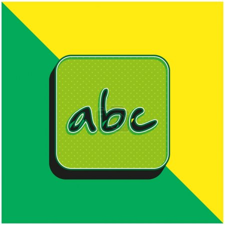 Alphabet Letters Symbol In Rounded Square Green and yellow modern 3d vector icon logo