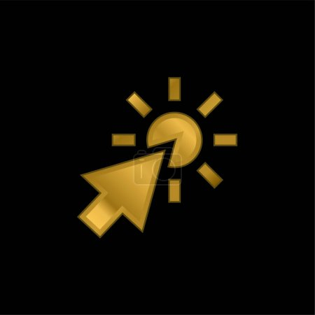 Illustration pour Flèche plaqué or icône métallique ou logo vecteur - image libre de droit