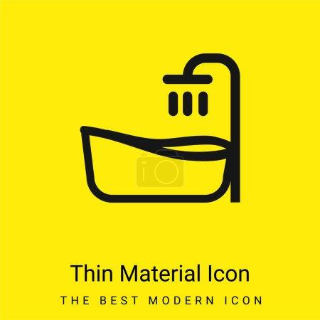 Baignoire minimaliste jaune vif icône matérielle