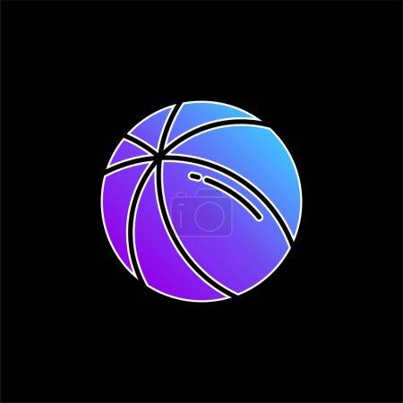 Illustration pour Icône vectorielle dégradé bleu boule - image libre de droit