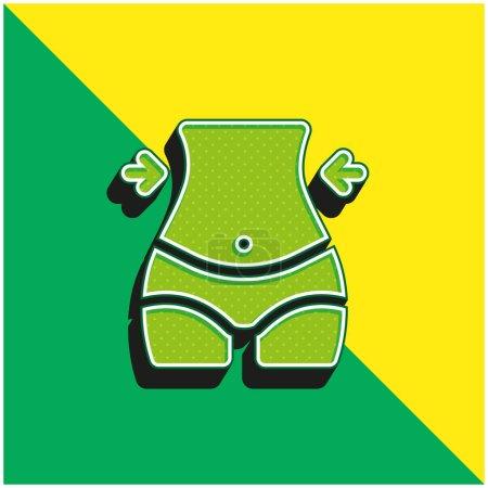 Illustration pour Corps Logo vectoriel 3d moderne vert et jaune - image libre de droit