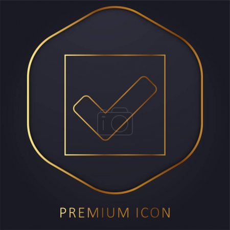 Illustration for Accept golden line premium logo or icon - Royalty Free Image