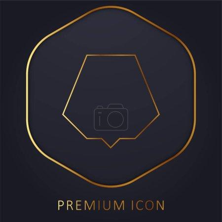 Illustration pour Noir Nonagon ligne d'or logo premium ou icône - image libre de droit