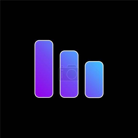 Bars Symbol blue gradient vector icon