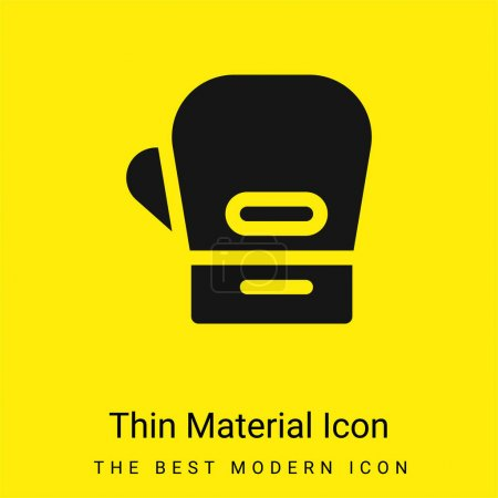 Boxing Gloves minimal bright yellow material icon