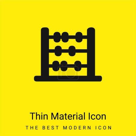 Photo pour Abacus Silhouette minime jaune vif icône matérielle - image libre de droit