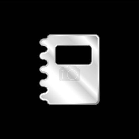 Agenda silver plated metallic icon