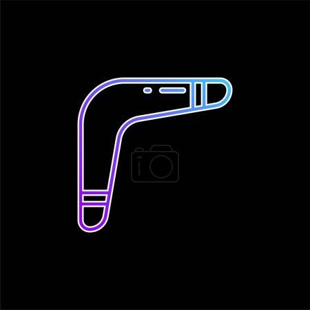 Photo pour Icône vectorielle de dégradé bleu Boomerang - image libre de droit