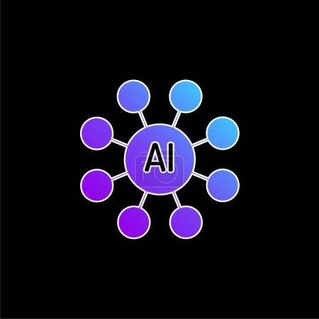 Illustration pour Icône vectorielle de dégradé bleu AI - image libre de droit