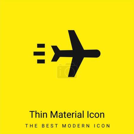 Photo pour Avion minimal jaune vif icône matérielle - image libre de droit