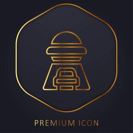 Illustration pour Enlèvement ligne d'or logo premium ou icône - image libre de droit