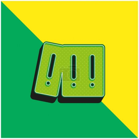 Illustration pour Archives Green and yellow modern 3d vector icon logo - image libre de droit