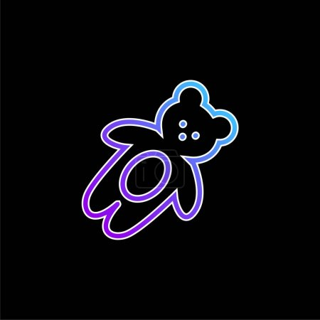 Bear Toy blue gradient vector icon