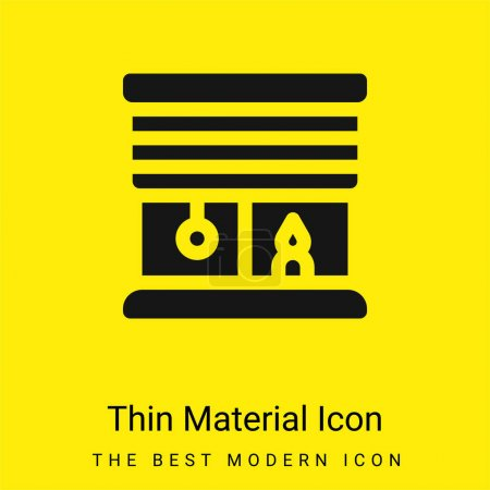 Illustration for Blinds minimal bright yellow material icon - Royalty Free Image