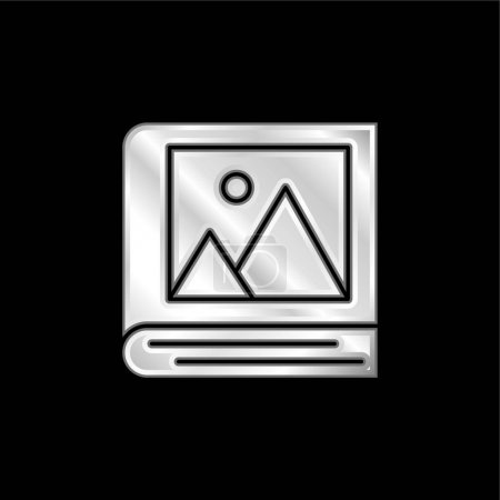 Illustration pour Album icône métallique argentée - image libre de droit