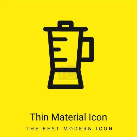 Blender minimal bright yellow material icon