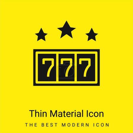 Illustration pour 777 minime icône de matériau jaune vif - image libre de droit