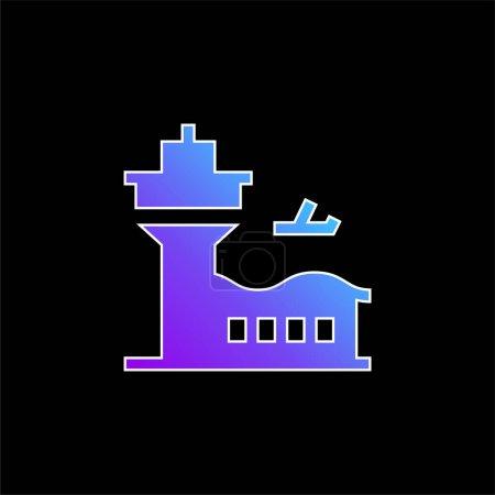 Airport blue gradient vector icon