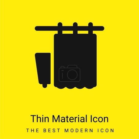 Bath Curtains minimal bright yellow material icon