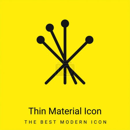 Acupuncture minimal bright yellow material icon