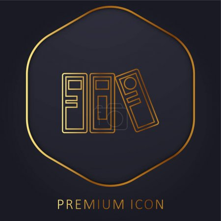 Archives golden line premium logo or icon
