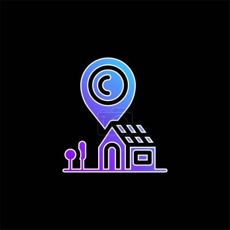 Address blue gradient vector icon