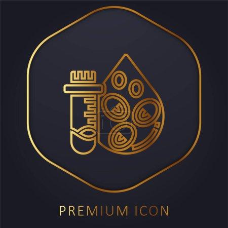 Illustration pour Test de numération sanguine ligne d'or logo premium ou icône - image libre de droit