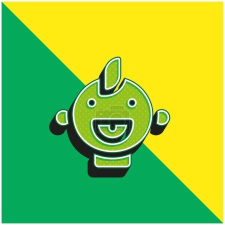 Baby grün und gelb modernes 3D-Vektor-Symbol-Logo