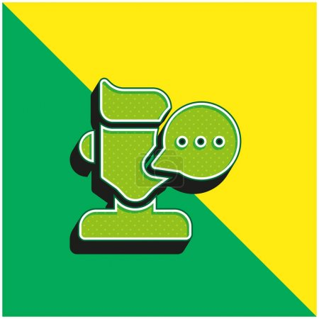 Photo pour Blogger Logo vectoriel 3D moderne vert et jaune - image libre de droit