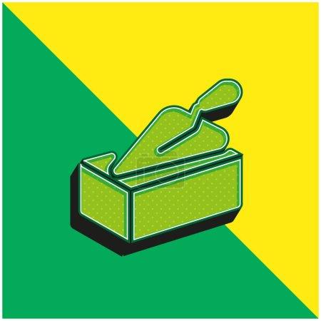 Illustration pour Logo vectoriel 3d moderne vert brique et jaune - image libre de droit