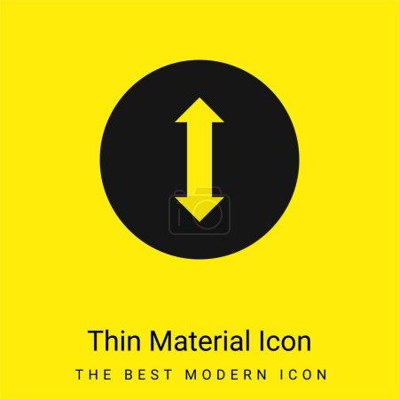 Illustration pour Flèche bidirectionnelle minimaliste jaune vif icône matérielle - image libre de droit