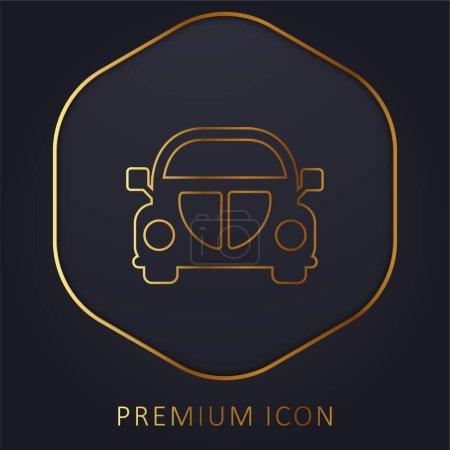 Illustration pour Beetle Car Front ligne d'or logo premium ou icône - image libre de droit