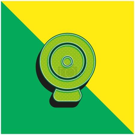 Illustration pour Big Webcam Logo vectoriel 3D moderne vert et jaune - image libre de droit