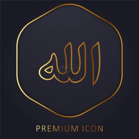 Illustration pour Allah Word ligne d'or logo premium ou icône - image libre de droit