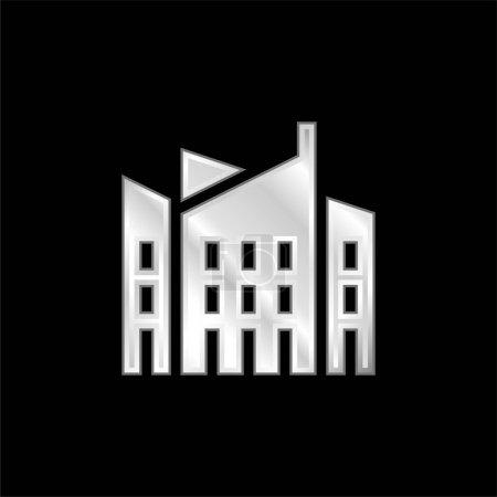 Photo pour Architecture icône métallique argentée - image libre de droit