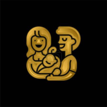 Annahme vergoldeter metallischer Symbole oder Logovektoren
