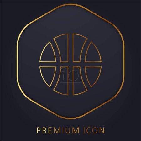 Photo pour Ballon de baseball ligne d'or logo premium ou icône - image libre de droit
